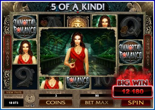 immortal Romance Best Winning Slots